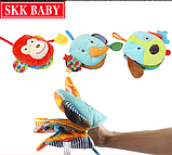 Собака. Книга мягкая рукавица тканевая Skk baby, фото 2
