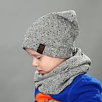 Комплект шапка и хомут весна для мальчика Остин