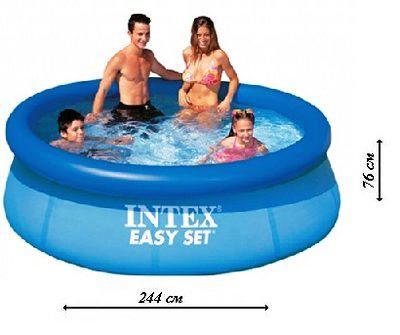 Надувной бассейн Intex 28110 Easy Set 244 х 76 см