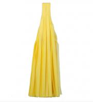 Кисточка тассел из тишью желтые 35 см
