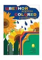 Картон цветной А3 Лилия-Холдинг набор 12л 4цв Подсолнухи Н12А