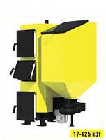 Стальной пеллетный универсальный котел с автоматической подачей Kronas (Кронас) Combi 27