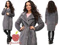 Женское мягкое меховое пальто 88567 (бат)