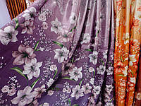 Фотоштора атлас фиолетового цвета