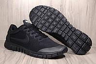 Nike Free Run 3.0 мужские кроссовки для бега черные