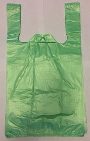 """Пакет полиэтиленовый майка """"Мишка"""" зеленый 24*44"""