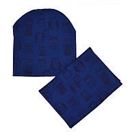 Комплект шапка и снуд весенние для девочки
