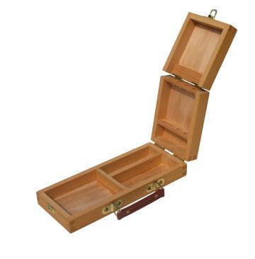 Этюдник-пенал D.K. ART - CRAFT акварельный деревянный (вяз) 33*16,5*5см 15143