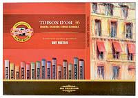 Мелки сухие пастельные KOH-I-NOOR Toison Dor набор 36шт. 8515