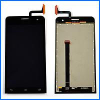 Дисплей (экран) для Asus ZenFone 5 (A500CG, A500KL, A501CG, A502CG) с тачскрином в сборе, цвет черный