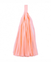 Кисточка тассел из тишью персиковые 25 см