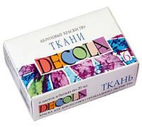 Краски акриловые для тканей ЗХК Невская Палитра DECOLA набор 6цв. по 20мл 4141025/350568
