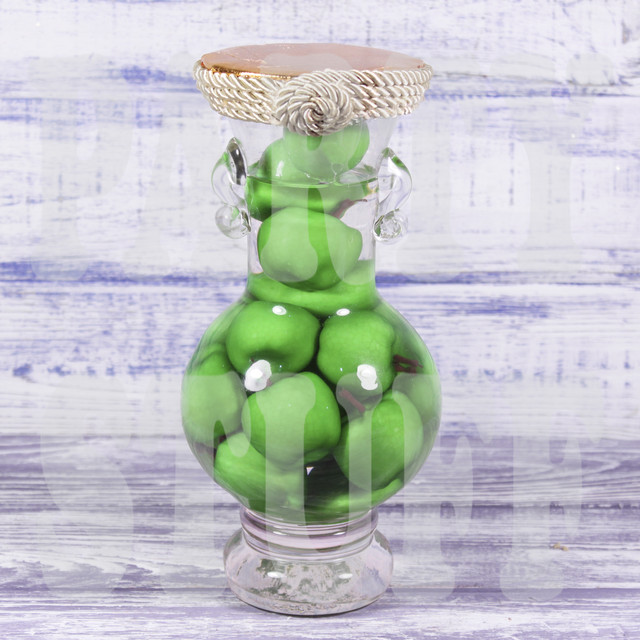 Декоративная бутылка Яблоки зеленые
