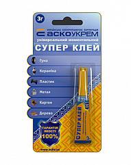 Супер клей (блистер) 3г АСКО-УКРЕМ A.HC-1-3
