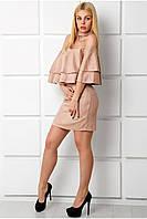Женственное короткое платье с чокером Рошель