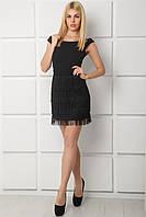 Короткое черное женское платье Мариса
