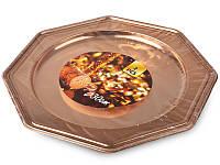 Тарелка пластиковая 2 шт., 30 см. золотистая Home&Styling