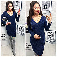 Платье модель (803) ,  меланж, цвет синий