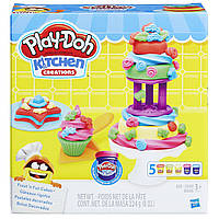Коллекция композиций Play-Doh Kitchen Creations Frost 'n Fun Cakes