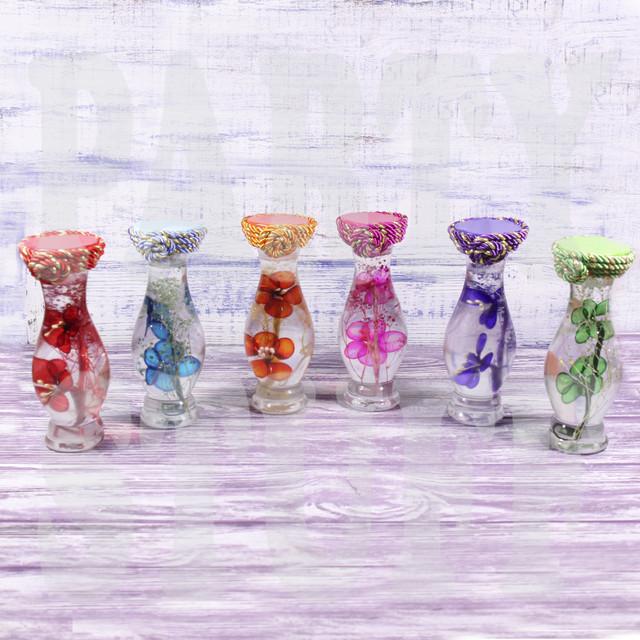 Декоративная бутылка микс цветов