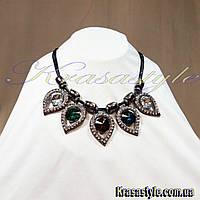 Ожерелье с цветными камнями, фото 1