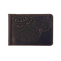 Зажим для денег Цветок коричневый 8*11см Гранд Презент 05-11К