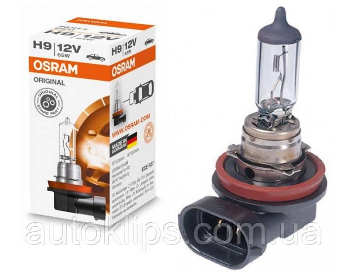 Автомобильная лампа  H9 12V 65W Osram (цоколь PGJ19-5)
