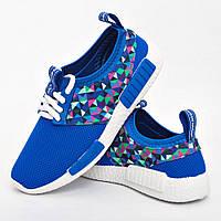 Кроссовки женские голубые модные