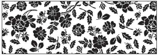 Калька URSUS А4 115г/м Черно-белая Розы UR-53984614R