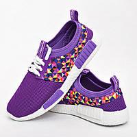 Кроссовки женские фиолетовые модные
