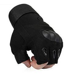 Тактические беспалые перчаткиOakley черные