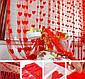 Шторы - занавес из нитей 100*180 см однотонные с сердечками кремовый, фото 2