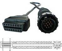 Переходник c OBD-II 16-pin на 14-pin MB Sprinter, VW LT, SsangYong