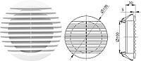 Решетка вентиляционная пр.фл. D130 d100 (20шт) Mini Max 2201