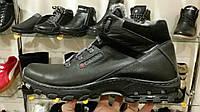 Распродажа! Кожаные мужские ботинки (кроссовки,красовки) зимние черные Columbia! Натуральная кожа и мех!