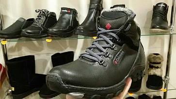 e5a335a5cc8c Распродажа! Кожаные мужские ботинки (кроссовки,красовки) зимние черные  Columbia! Натуральная кожа