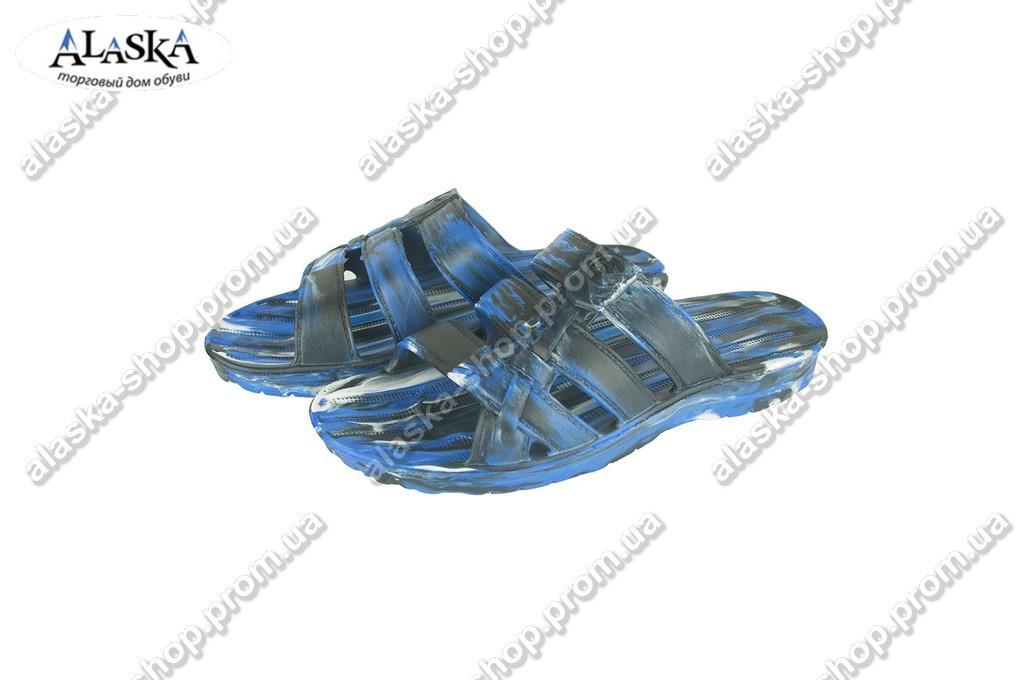 Мужские шлепанцы  (Код: П-20 микс синий)