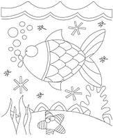 Картина раскраска с контурами на холсте 1 ВЕРЕСНЯ 25*30см Рыбка 950396