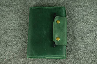 Обложка для ежедневника А5 с прошивкой |105102| Зеленый