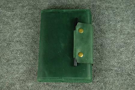 Обложка для ежедневника А5 с прошивкой  105102  Зеленый