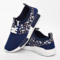 Кроссовки женские синие модные