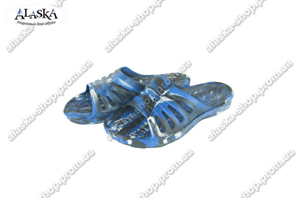 Мужские сланцы синие (Код: П-19 микс синий)
