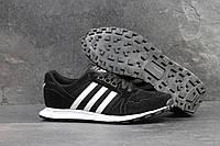 Кроссовки мужские Adidas Neo SD-4303 Материал замша. Черные с белым