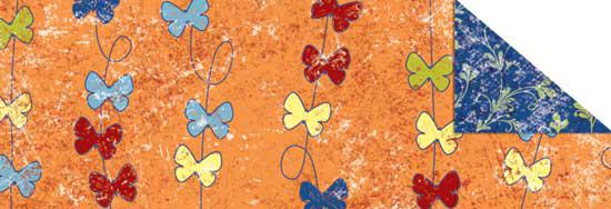 Калька URSUS А4 Парадис 115г Бабочки Оранжевый UR-77224605R