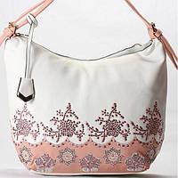 Женская сумка Velina Fabbiano белая с розовым