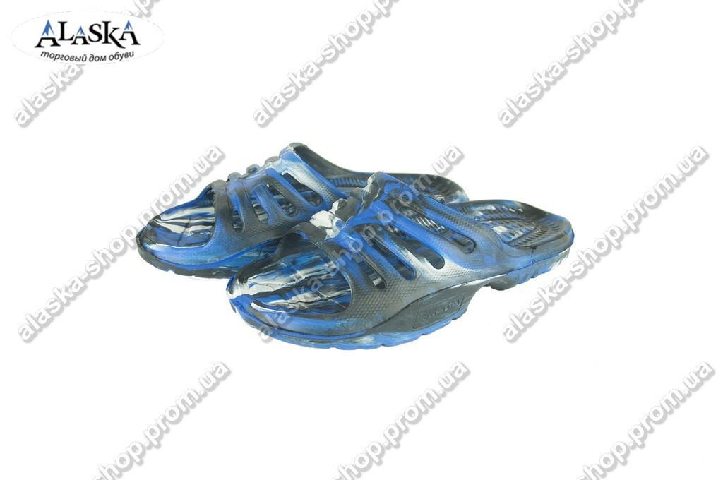 Шлепанцы мужские синие (Код: П-01 микс синий)