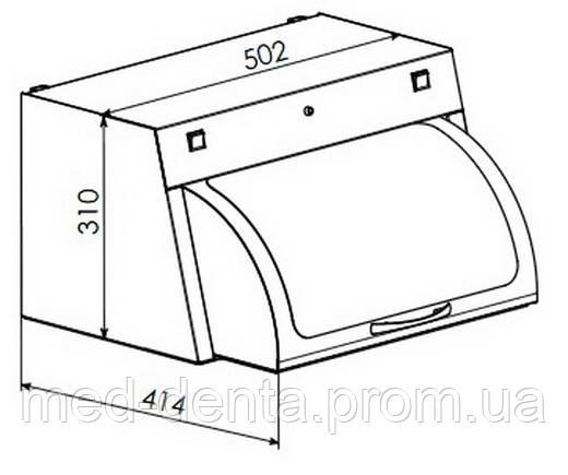 УФ камера для хранения стерильного инструмента ПАНМЕД-1 M (500 мм) о стеклянной сектор-крышкой ZOOBLE