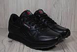 Reebok Classic Black черные кроссовки унисекс, фото 2