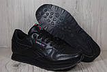 Reebok Classic Black черные кроссовки унисекс, фото 5