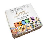 Краски акриловые по стеклу и керамике ЗХК DECOLA набор 5цв. по 20мл с контурами растворителем 4041176
